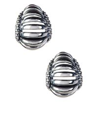 Lagos - Metallic Sterling Silver Signature Caviar Interlude Earrings - Lyst