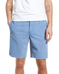 The Rail - Blue Print Frost Wash Shorts for Men - Lyst