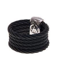 Alor - 18k White Gold & Black Stainless Steel Diamond Ring - Size 7- 0.41 Ctw - Lyst
