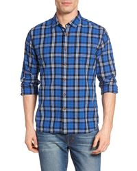 Grayers | Blue Seaford Plaid Poplin Sport Shirt for Men | Lyst