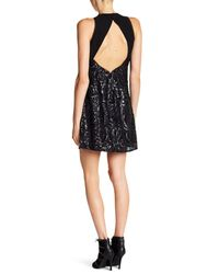 Miss Me - Black Take A Moment Sequin Sleeveless Dress - Lyst