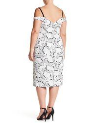 ABS By Allen Schwartz - White Off-the-shoulder Stretch Knit Gown (plus Size) - Lyst