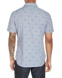 John Varvatos Blue Extra Slim Fit Print Sport Shirt for men