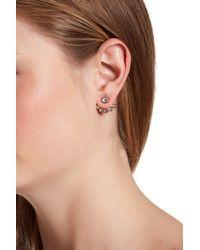 Rebecca Minkoff - Multicolor Gem Stone Ear Jacket Earrings - Lyst