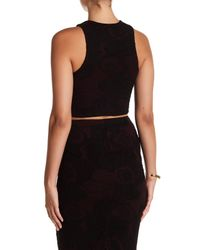 Bella Luxx - Black Quilted Floral Tank - Lyst