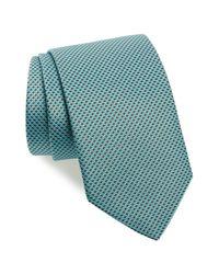Eton of Sweden - Green Geometric Silk Tie for Men - Lyst