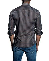 Jared Lang - Blue Gingham Woven Trim Fit Shirt for Men - Lyst