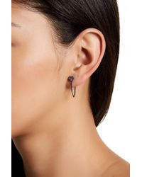 Rebecca Minkoff | Natural Stone Chain Loop Stud Earrings | Lyst