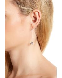 Rebecca Minkoff - Multicolor Evil Eye Threader Earrings - Lyst