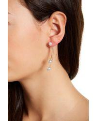 Joe Fresh - White Imitation Pearl Detail Front & Back Earrings - Lyst