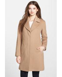 Fleurette - Natural Wool Notch Collar Coat - Lyst