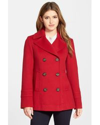 Fleurette - Red Wool Peacoat - Lyst