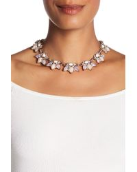 Jenny Packham - Metallic Crystal & Glass Necklace - Lyst