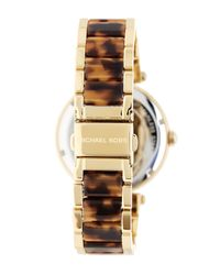 MICHAEL Michael Kors - Metallic Women's Parker Logo Dial Crystal Embellished Bracelet Watch - Lyst