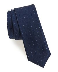 Calibrate - Blue Pebble Dot Silk Tie for Men - Lyst