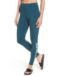 Ivy Park - Blue Logo Ankle Leggings - Lyst