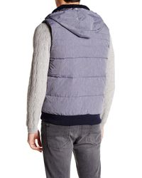 Original Penguin - Multicolor Reversible Fleece Lined Vest for Men - Lyst