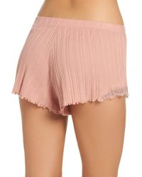 Skin - Pink Ribbed Shorts - Lyst