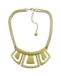 The Sak - Metallic Hinged Geometric Bib Necklace - Lyst