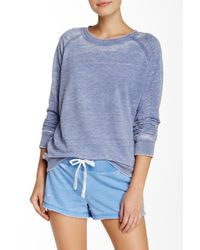 Honeydew Intimates - Blue Crew Neck French Terry Sweatshirt - Lyst