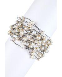 Splendid - Multicolor 5-6mm Cultured Freshwater Pearl Multi-row Bracelet - Lyst