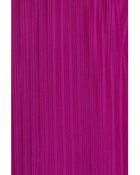Maggy London - Purple Textured Slipdress - Lyst