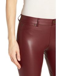 Hue - Red 'leatherette' Faux Leather Leggings - Lyst