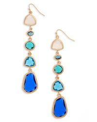 Panacea - Blue Drop Earrings - Lyst