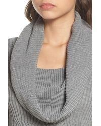Eliza J - Gray Cowl Neck Sweater Dress - Lyst