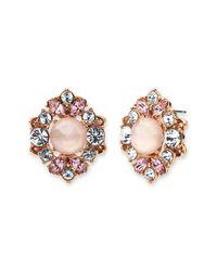 Marchesa - Multicolor Crystal & Imitation Pearl Cluster Stud Earrings - Lyst