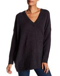 French Connection - Gray Weekend Flossy V-neck Sweater - Lyst