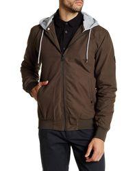 Globe - Brown Goodstock Snap-off Hooded Bomber Jacket for Men - Lyst