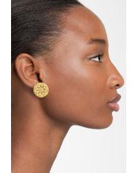 House of Harlow 1960 - Metallic Engraved Stud Earrings - Lyst