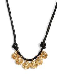 Elizabeth and James - Metallic Maeve Pendant Necklace - Lyst