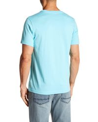 Kenneth Cole - Blue Ombre Hexagon Tee for Men - Lyst