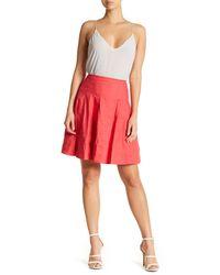 Nicole Miller - Red Seamed Flare Skirt - Lyst