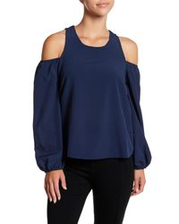 Lucca Couture - Blue Michelle Cold Shoulder Top - Lyst