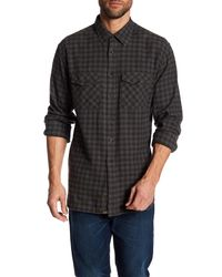 Billy Reid - Black Graham Plaid Long Sleeve Standard Fit Shirt for Men - Lyst