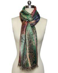 Saachi | Green Gold Silk Botanical Wrap | Lyst