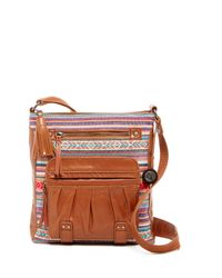 The Sak | Pink Iris Leather Crossbody | Lyst