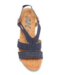 Anne Klein - Blue Cabrini Wedge Sandal - Lyst