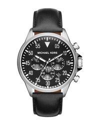 MICHAEL Michael Kors - Metallic Men's Gage Chronograph Watch for Men - Lyst
