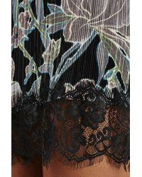 TOPSHOP | Black Floral Slipdress | Lyst