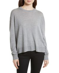Equipment - Gray Irene Wool Blend Sweater - Lyst