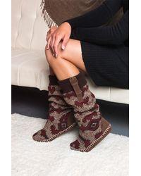 Muk Luks | Brown Angela Faux Fur Lined Slipper | Lyst