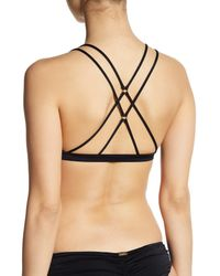 Beach Bunny Black Strappy Triangle Bikini Top