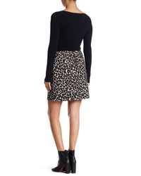 Sanctuary - Black Classic Pull On Leopard Print Skirt - Lyst