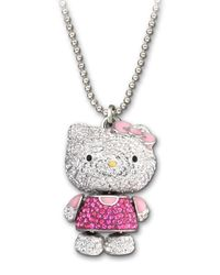 Swarovski | Multicolor Crystal Hello Kitty Pendant Necklace | Lyst