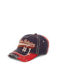 True Religion | Blue Script Baseball Cap for Men | Lyst