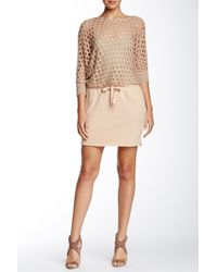 Isy & Ki | Natural French Terry Mini Skirt | Lyst